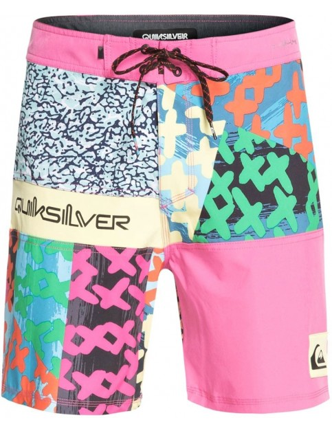 Quiksilver Highline More Paint 18 Mid Length Boardshorts in CARMINEROSE