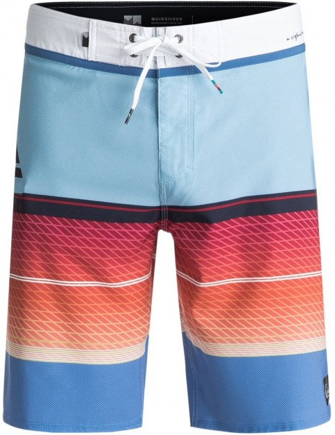 Quiksilver Highline Slab Mid Length Boardshorts in Dusk Blue