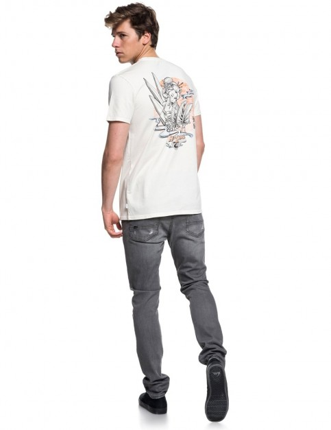Quiksilver Hot Sake Short Sleeve T-Shirt in Oatmeal