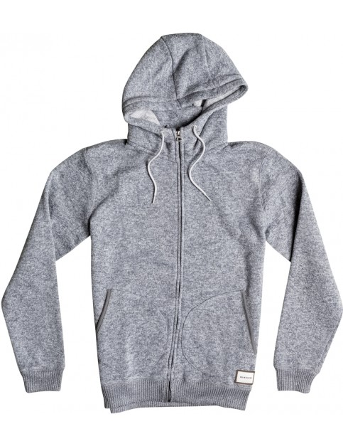 Quiksilver Keller Zipped Hoody in Light Grey Heather