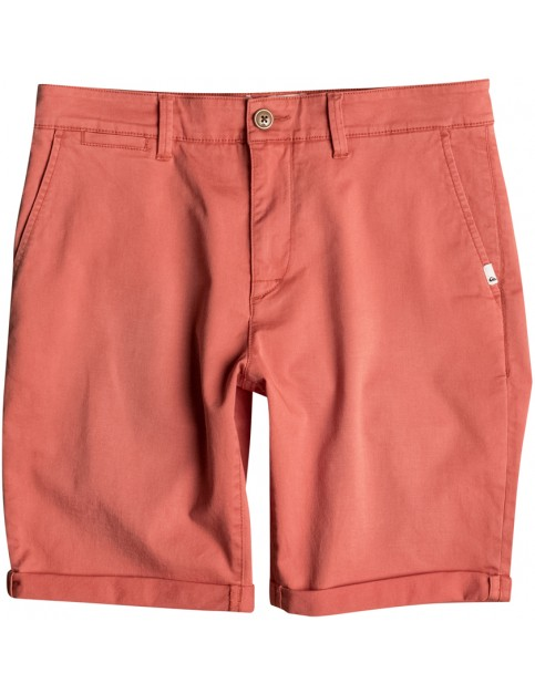 Quiksilver Krandy Chino Shorts in Burnt Sienna