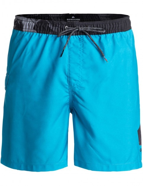 Quiksilver Lava Logov 17 inch Elasticated Boardshorts in Bonnie Blue
