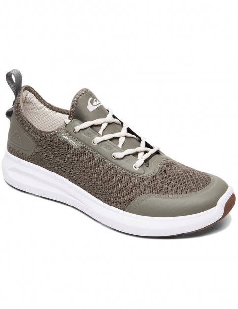 Quiksilver Layover Travel Shoe Trainers in Green/Green/White