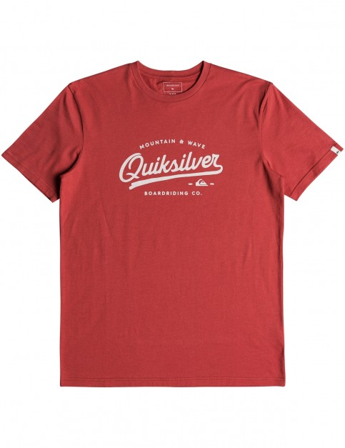 Quiksilver Living on the Edge Short Sleeve T-Shirt in Dusty Cedar