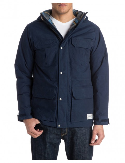Medieval Blue Quiksilver Long Bay Parka Jacket