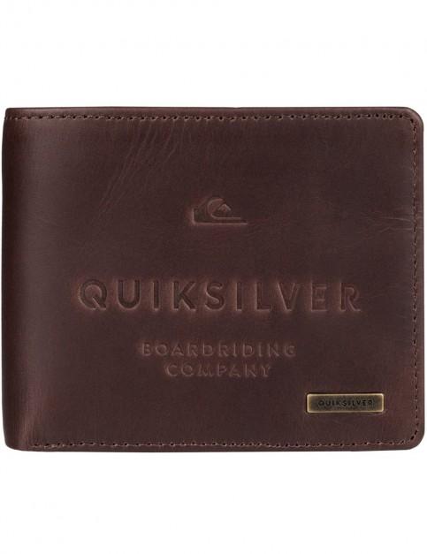 Quiksilver Mack III Leather Wallet in Chocolate