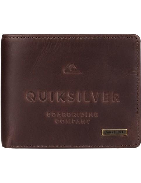 Chocolate Quiksilver Mack III Leather Wallet