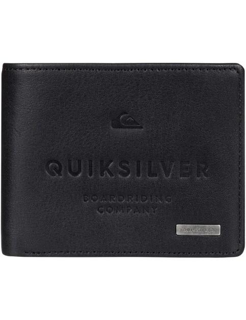 Quiksilver Mack III Leather Wallet in Black