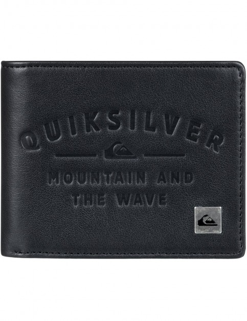 Quiksilver Mack IV Leather Wallet in Black