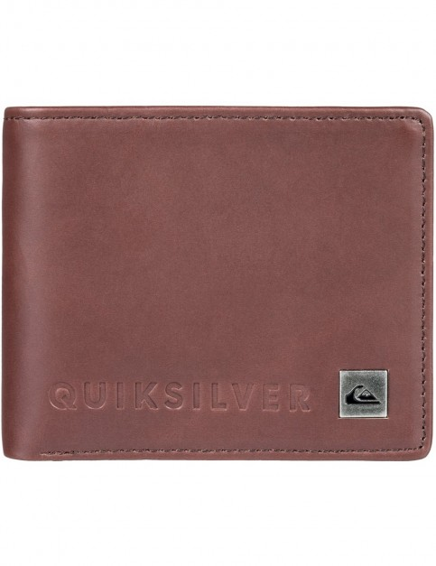 Quiksilver Mack VI Leather Wallet in Chocolate Brown