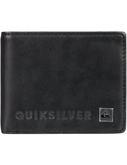 Quiksilver Mack VI Leather Wallet in Black