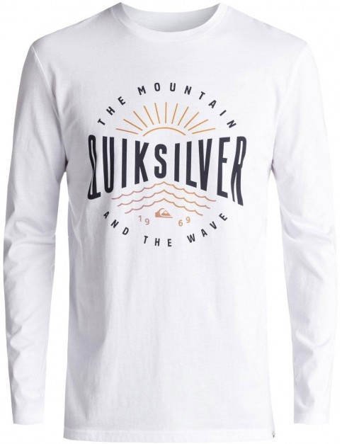 Quiksilver Mad Wave Classic Long Sleeve T-Shirt in White