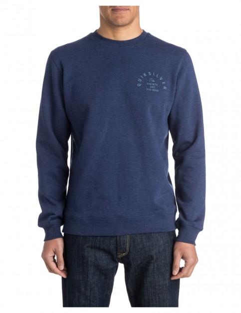 Medieval Blue Quiksilver Major Crew Sweatshirt
