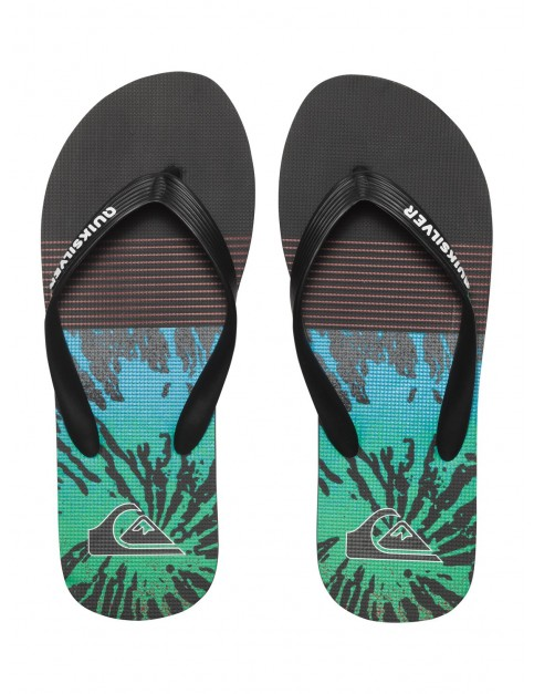 Quiksilver Molokai Ag47 Remix Flip Flops in Black Red Green