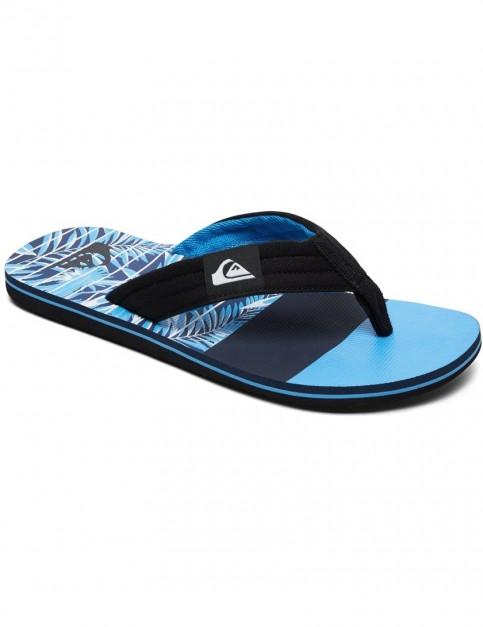 Quiksilver Molokai Layback Flip Flops in BLACK/BLUE/BLUE
