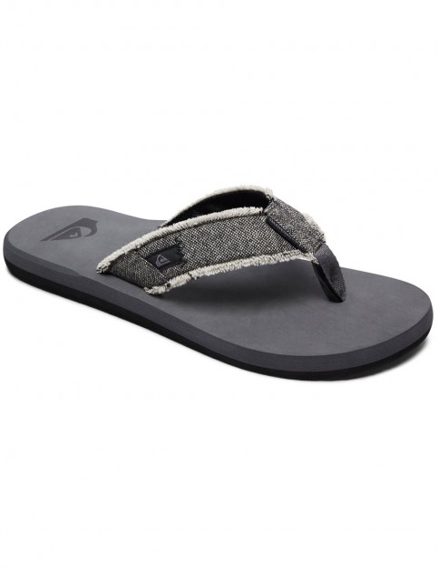 Quiksilver Monkey Abyss Canvas Sandals in Grey