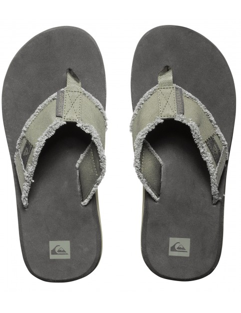 Quiksilver Monkey Abyss Flip Flops in Green Black Brown