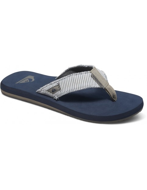 Quiksilver Monkey Abyss Flip Flops in Grey/Grey/Blue