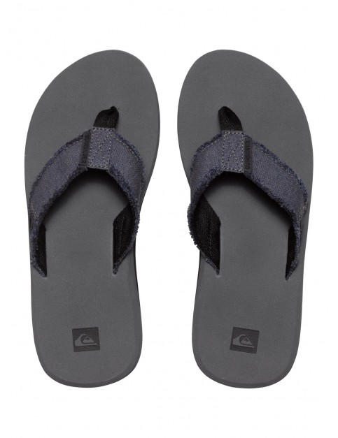 Grey Grey Grey Quiksilver Monkey Abyss Flip Flops