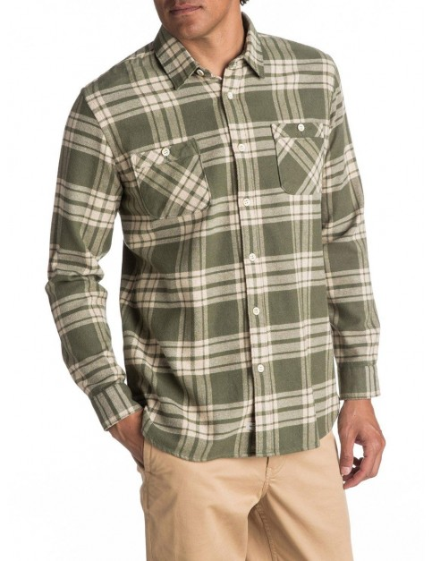 Quiksilver Moon Tides Long Sleeve Shirt in Beetle