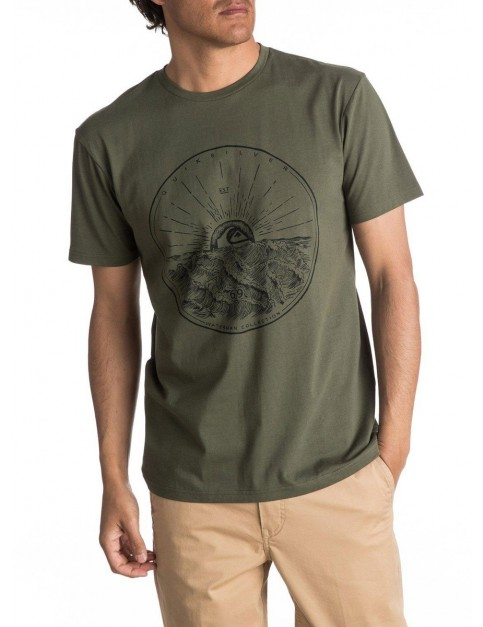 Quiksilver Mountain Sunshine Short Sleeve T-Shirt in Beetle