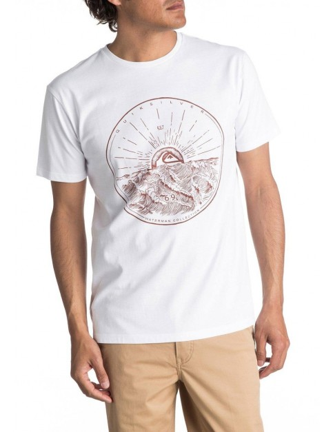 Quiksilver Mountain Sunshine Short Sleeve T-Shirt in White