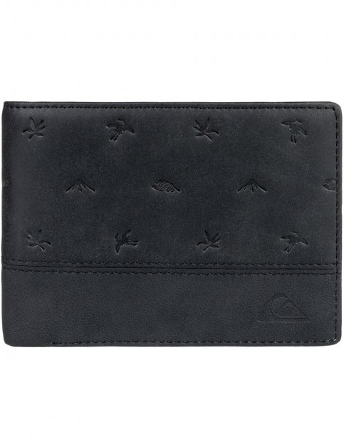 Quiksilver New Classical Faux Leather Wallet in Black