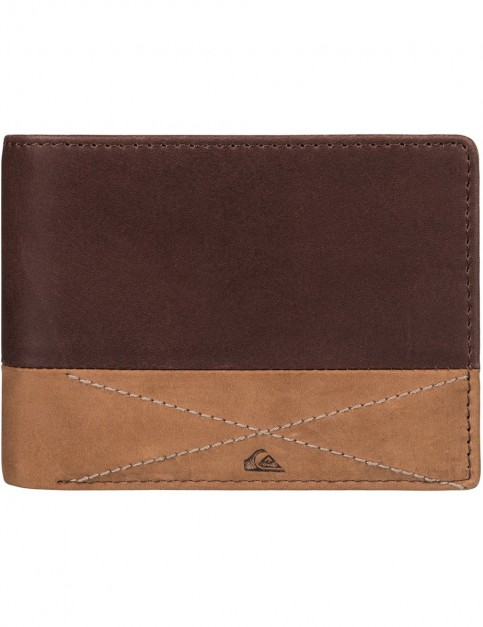 Quiksilver New Classical Leather Wallet in Choc/Cognac