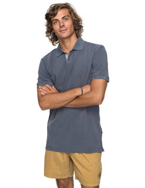 Quiksilver New Miz Kimitt Polo Shirt in Vintage Indigo