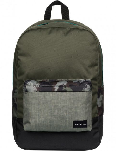 Quiksilver Night Track Backpack in Wax Dots Camo Grey