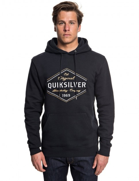 Quiksilver Nowhere North Hood Pullover Hoody in Black