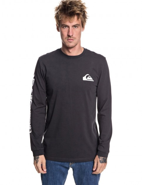 Quiksilver Original Quik Collage Long Sleeve T-Shirt in Tarmac