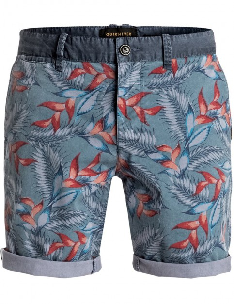 Quiksilver Paradise Point Chino Shorts in Indian Teal