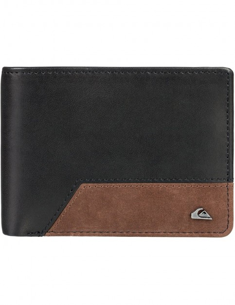 Quiksilver Pathway Leather Wallet in Falcon