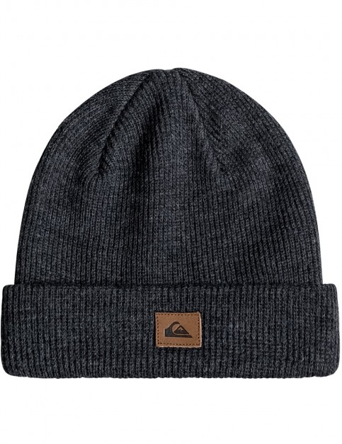 Quiksilver Performed Beanie in Dark Charcoal Heathe