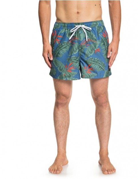 Quiksilver Poolsider volley 15 Elasticated Boardshorts in Medieval Blue
