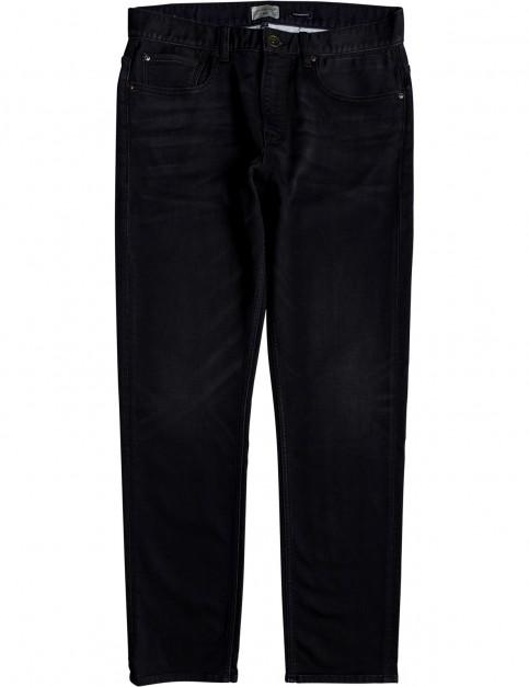 Quiksilver Revolver Fleece Deep Sea Straight Fit Jeans in Deep Sea