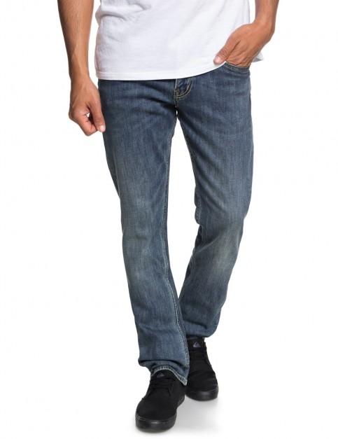 Quiksilver Revolver Medium Blue Slim Fit Jeans in Medium Blue