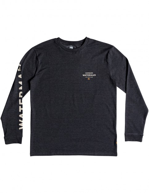 Quiksilver Righty Long Sleeve T-Shirt in Charcoal Heather