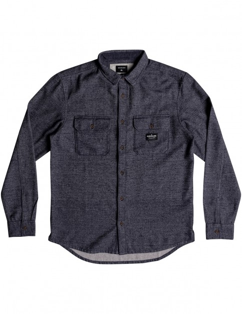 Quiksilver Riku Rock Long Sleeve Shirt in Blue Nights