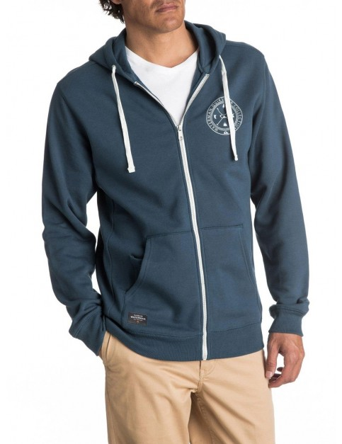 Quiksilver Ring The Bell Zipped Hoody in Major Blue