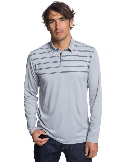 Quiksilver River Explorer Polo Shirt in Grey Marl
