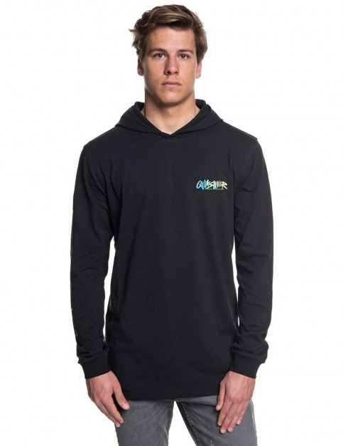 Quiksilver Rough Right Hood Long Sleeve T-Shirt in Black