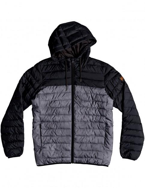 Quiksilver Scaly Hood Block Jacket in Black