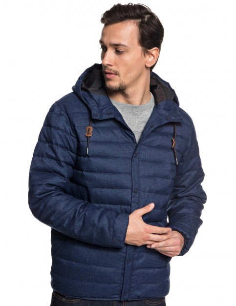 Quiksilver Scaly Wool Jacket in Medieval Blue Heathe