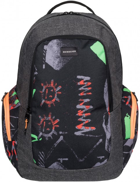 Quiksilver Schoolie Backpack in Labrynth Green Gecko