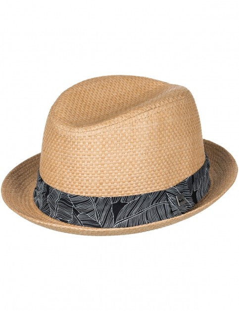 Quiksilver Schralpsten Fedora Hat in Tobacco Brown
