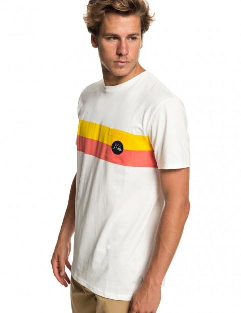 Quiksilver Season Stripe Pocket Short Sleeve T-Shirt in Gardenia