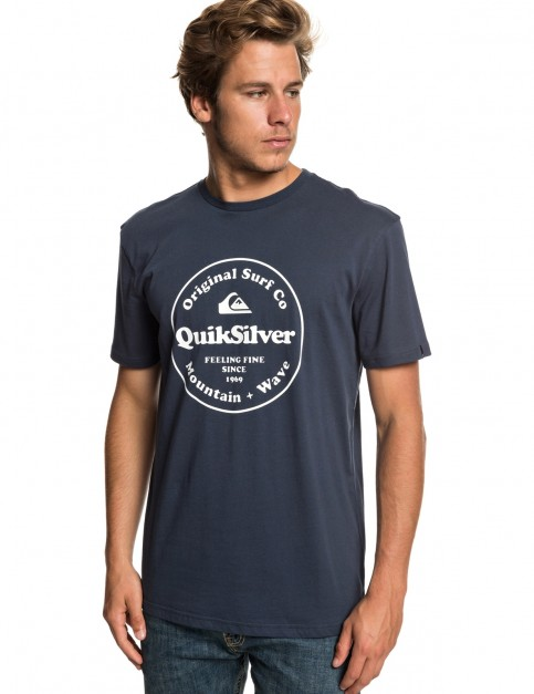 Quiksilver Secret Ingredient Short Sleeve T-Shirt in Blue Nights