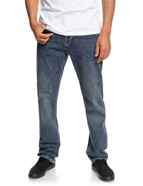 Quiksilver Sequel Medium Blue Regular Fit Jeans in Medium Blue